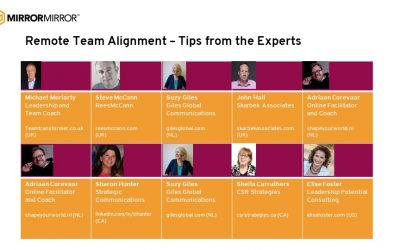 Webinar links: Aligning Remote Teams – Tips from the Experts